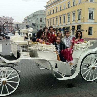 белая карета, прогулки в карете по городу