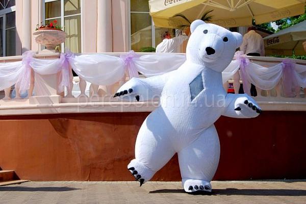белый медведь, полярный мишка, одесса, ростовые куклы