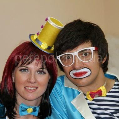 дует клоунов в Одессе, клоуны для детей Одесса, клоуны с животными