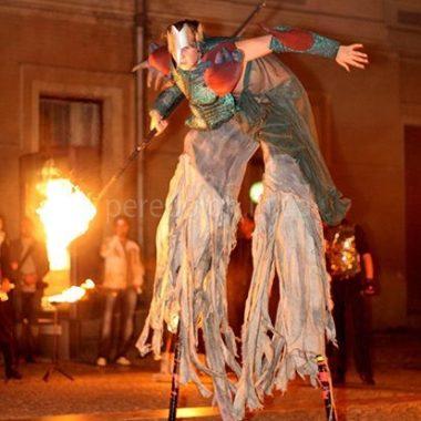 фаер шоу в Одессе, заказать фаер-шоу на ходулях в Одессе