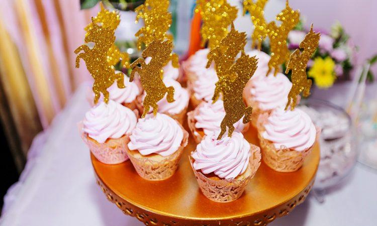 золотые топперы на торт, капкейки